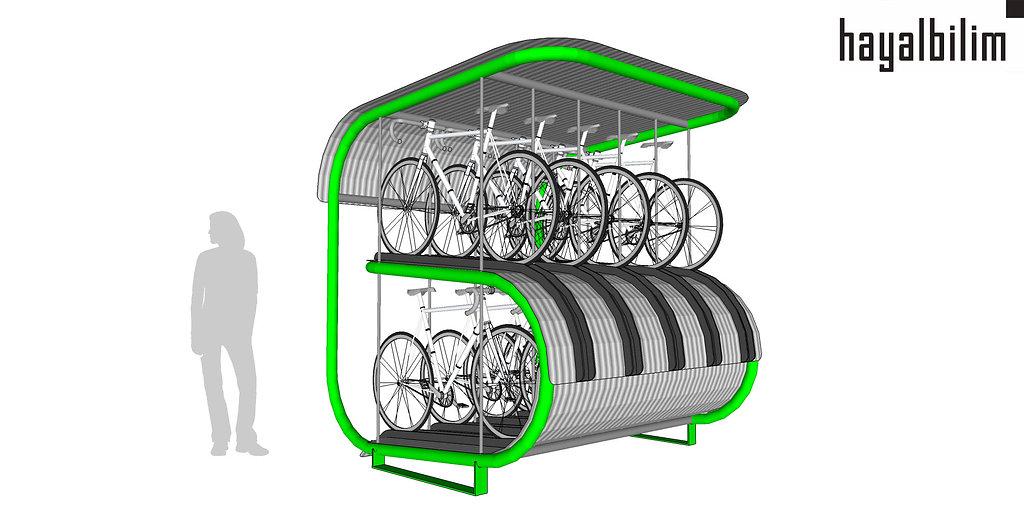 bike shelter | bisiklet koruganı